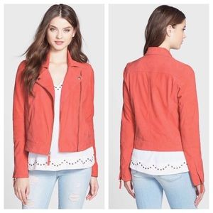 Lucky Brand Coral Leather Suede Jacket